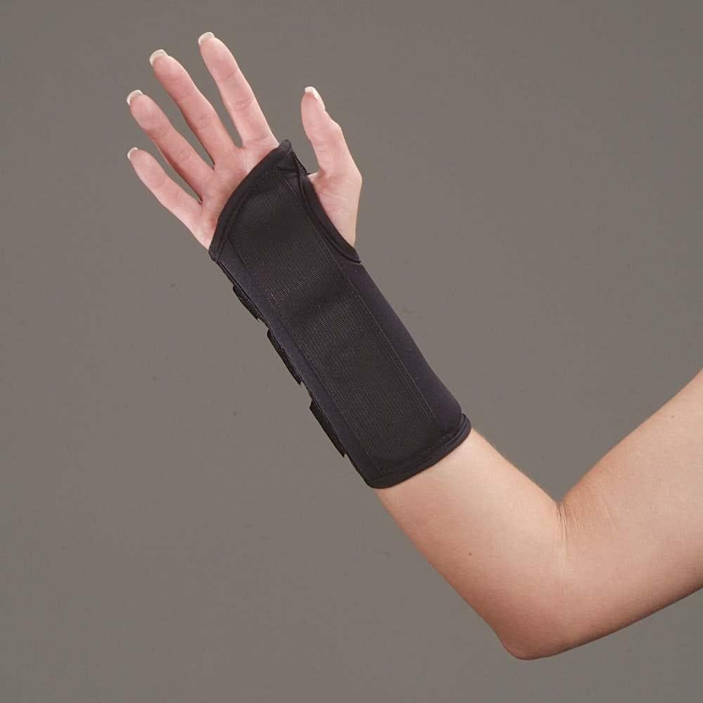 Cock up wrist splint black foam